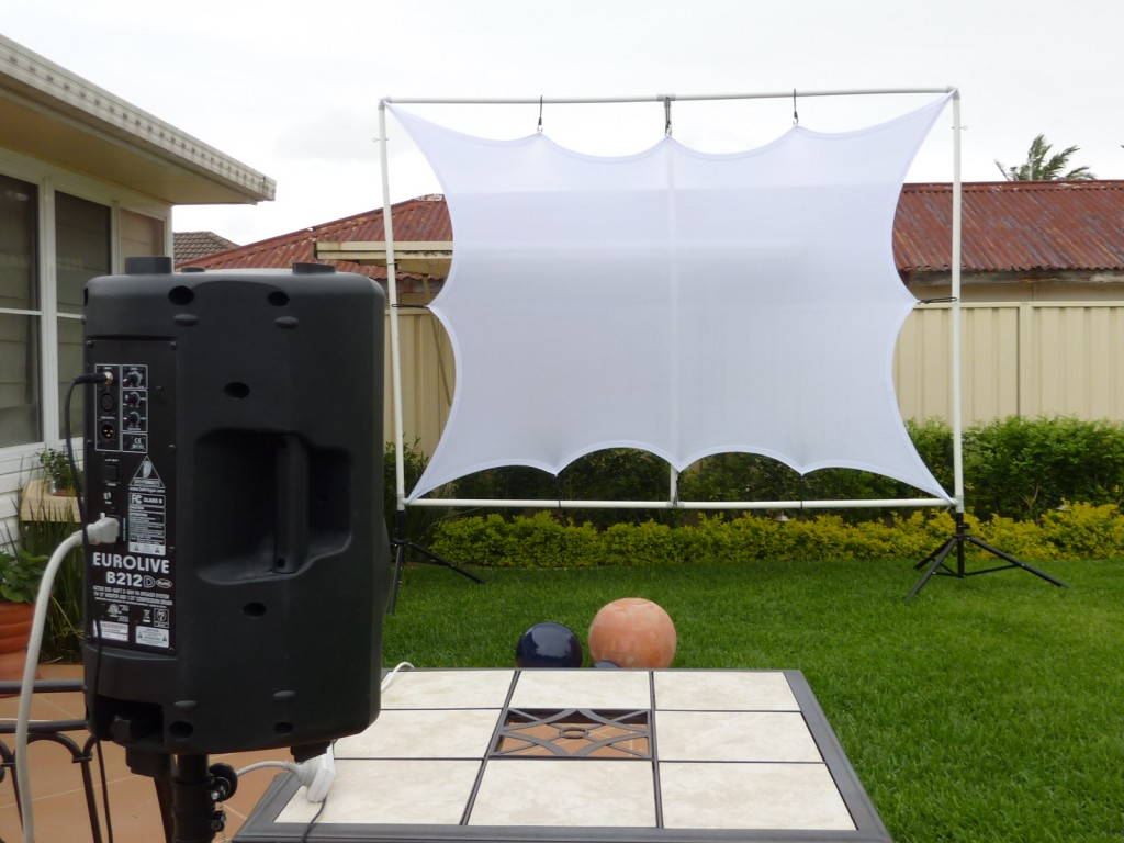 Outdoor Projector and Screen