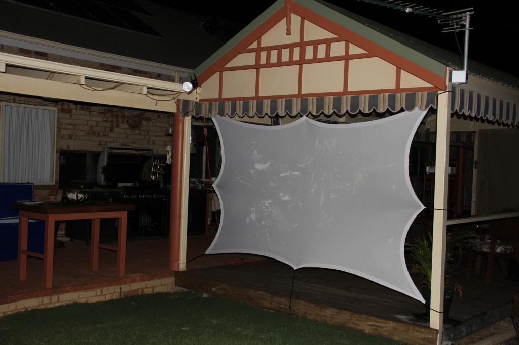 How To Stretch A Stretch Outdoor Screen Projection
